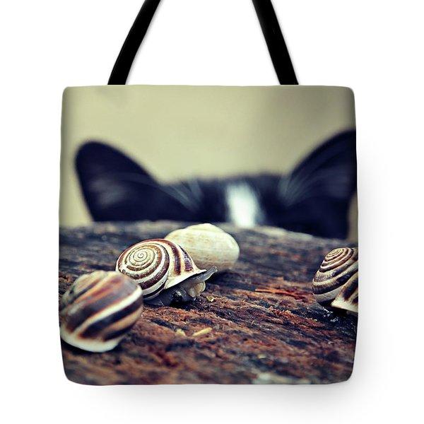 Cat Snails Tote Bag