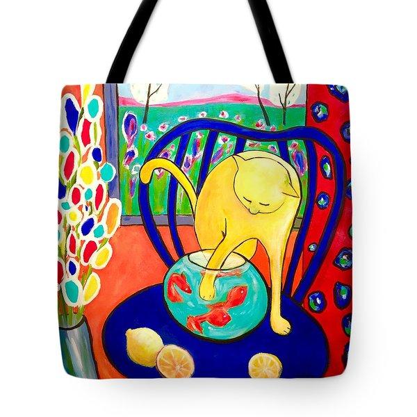 Cat - Tribute To Matisse Tote Bag