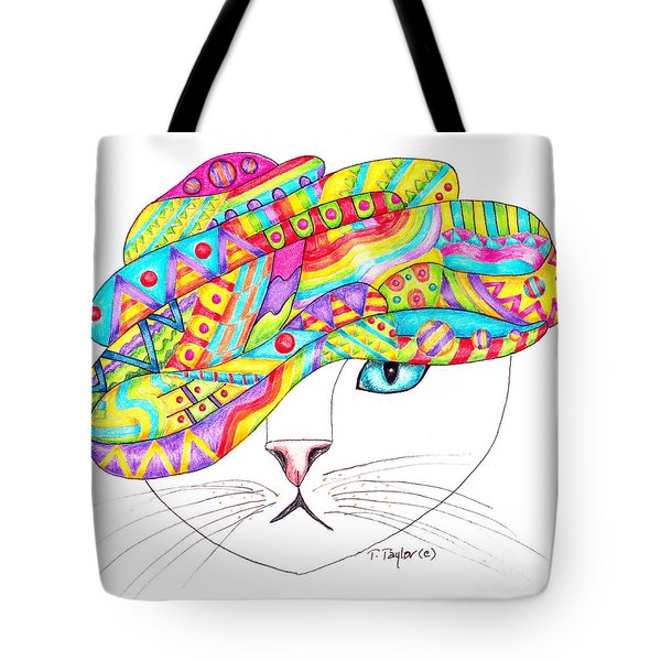 Cat With A Fancy Turban Tote Bag
