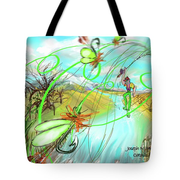 Catails And Flys Tote Bag