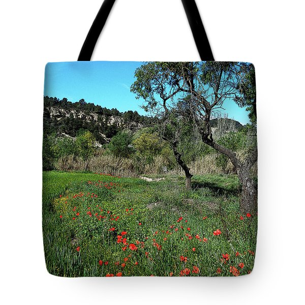 Catalan Countryside In Spring Tote Bag