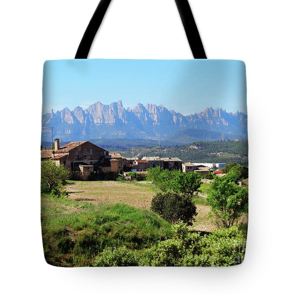 Catalan Landscape In Spring Tote Bag