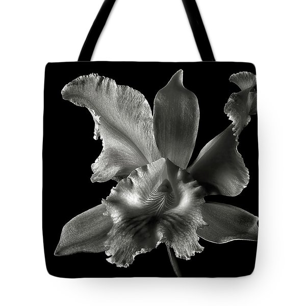 Catalea Orchid In Black And White Tote Bag