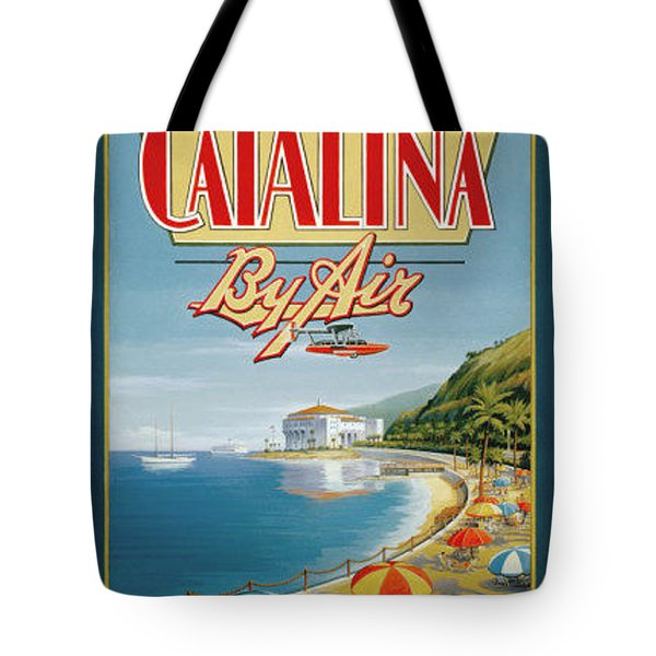 Catalina By Air Tote Bag by Nostalgic Prints