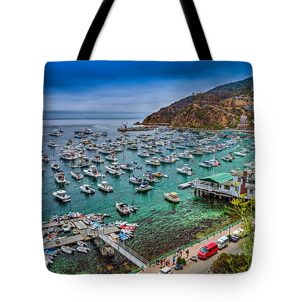 Catalina Island  Avalon Harbor Tote Bag