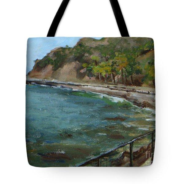 Catalina Trees At Lovers Cove Tote Bag