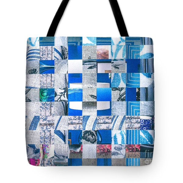 Tote Bag featuring the mixed media Catalogue Blues by Jan Bickerton