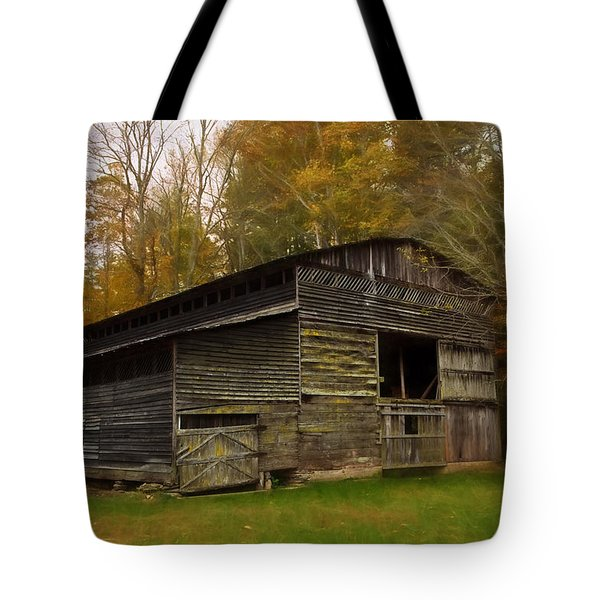 Cataloochee Valley Barn Tote Bag