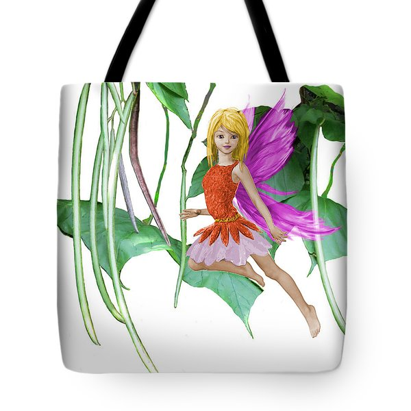 Catalpa Tree Fairy Among The Seed Pods Tote Bag