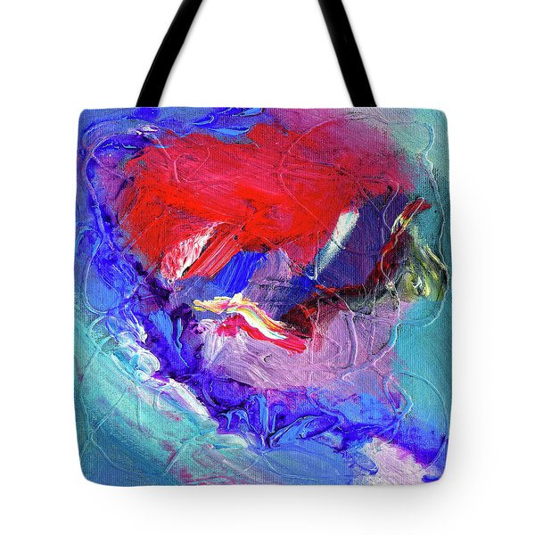 Tote Bag featuring the painting Catalyst by Dominic Piperata