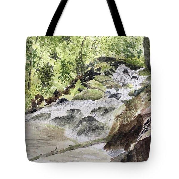 Catawba Falls - A Watercolor Sketch Tote Bag