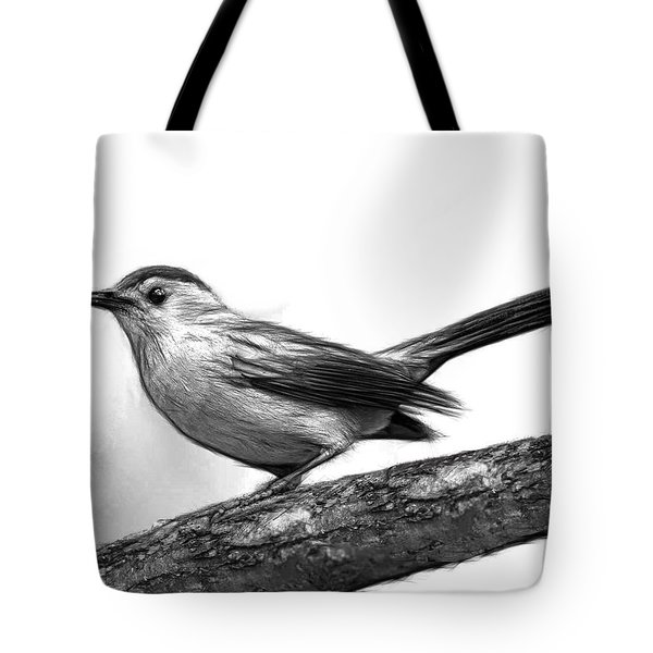 Catbird B And W Tote Bag