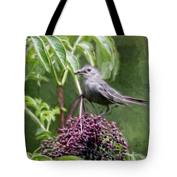 Catbird Tote Bag