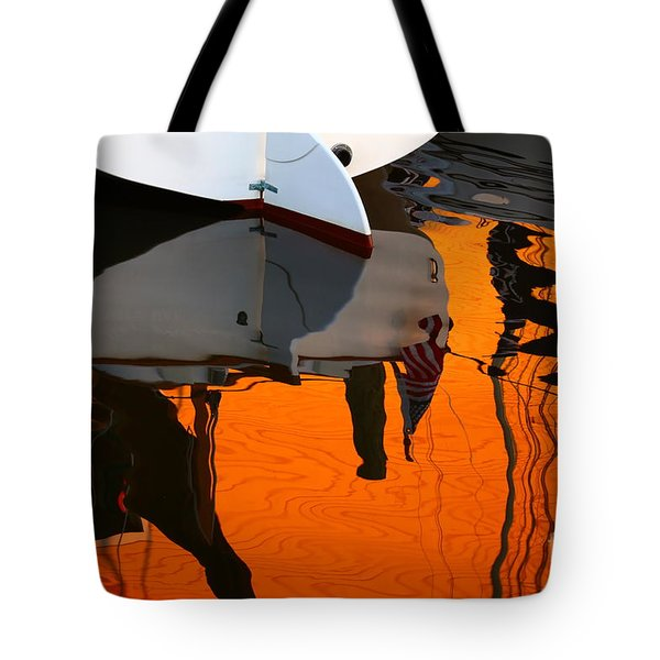 Catboat Reflection Tote Bag