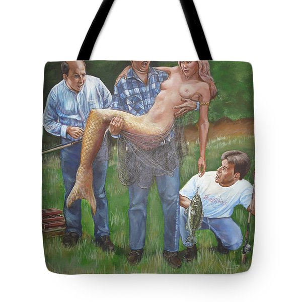 Catch Of The Day Tote Bag by Bryan Bustard