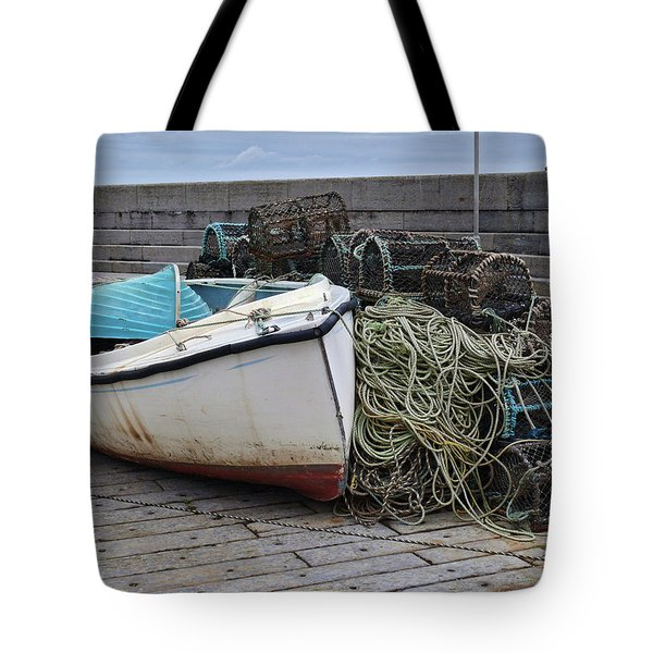 Catch Of The Day At Donaghadee Harbour Tote Bag