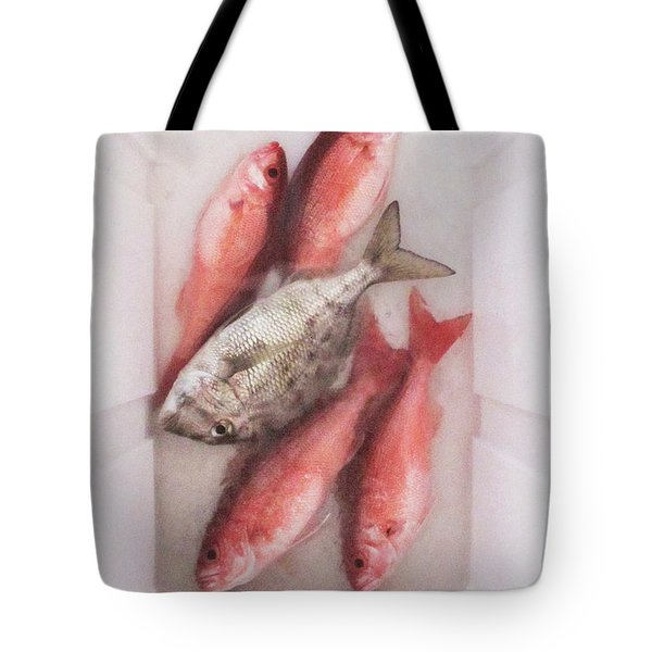 Tote Bag featuring the photograph Catch Of The Day by Gregg Cestaro