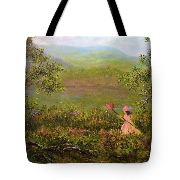 Catching Butterflys Tote Bag