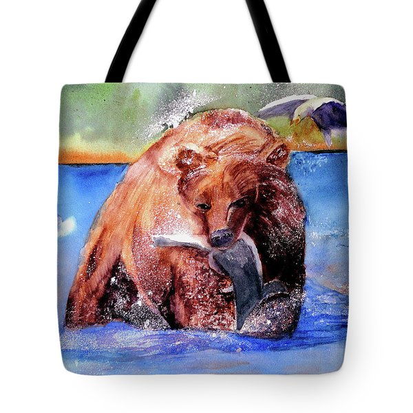 Catching Dinner Tote Bag