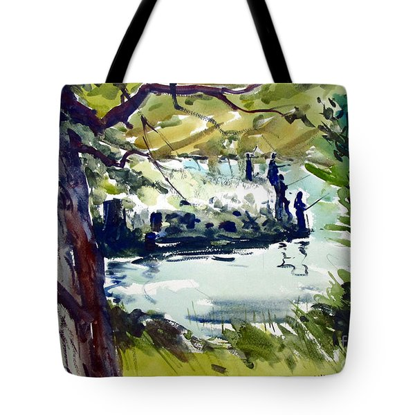 Catching Summer Dreams Framed Matted Glassed Tote Bag