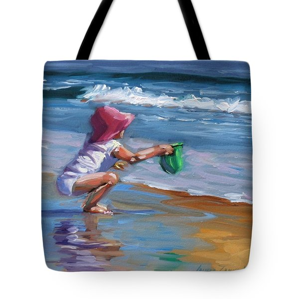 Catching The Wave Tote Bag by Laura Lee Zanghetti