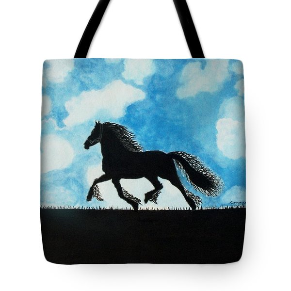 Tote Bag featuring the painting Catching The Wind by Connie Valasco