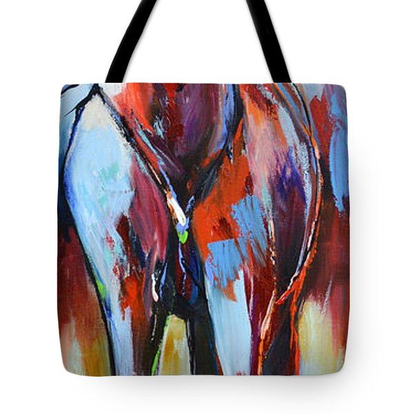 Tote Bag featuring the painting Catching Wind by Cher Devereaux