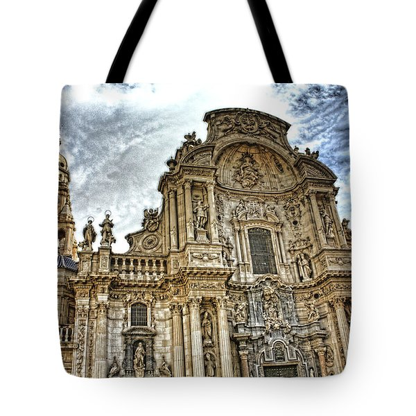 Tote Bag featuring the digital art Catedral De Murcia by Angel Jesus De la Fuente