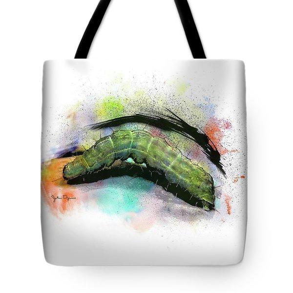 Caterpillar Drawing Tote Bag