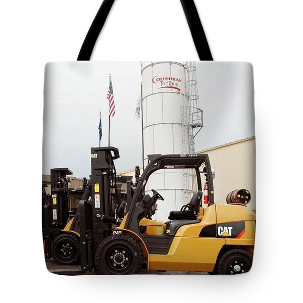 Caterpillar Forklift Tote Bag
