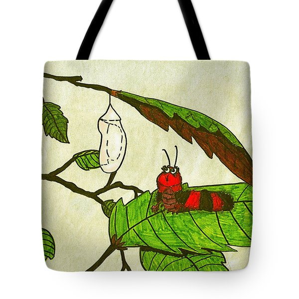 Caterpillar Whimsy Tote Bag