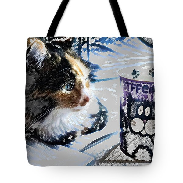 Catfinated Kitty Tote Bag