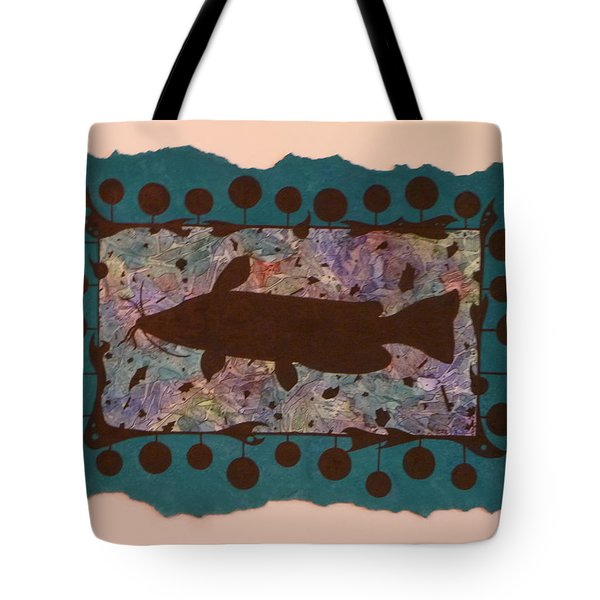 Catfish Silhouette Tote Bag