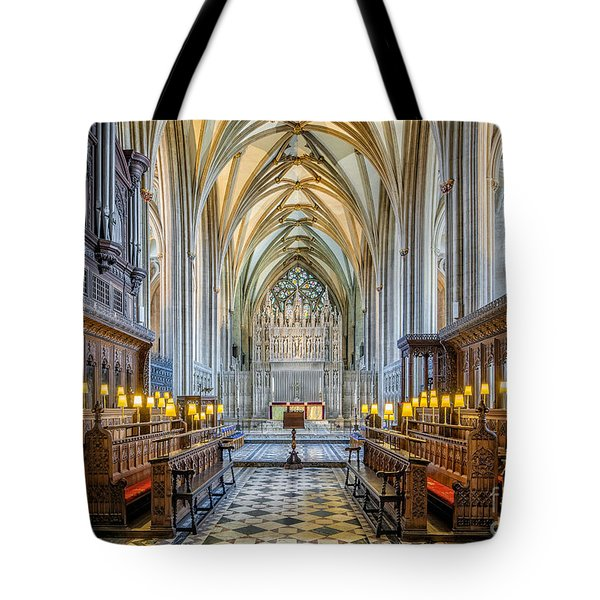 Tote Bag featuring the photograph Cathedral Aisle by Adrian Evans