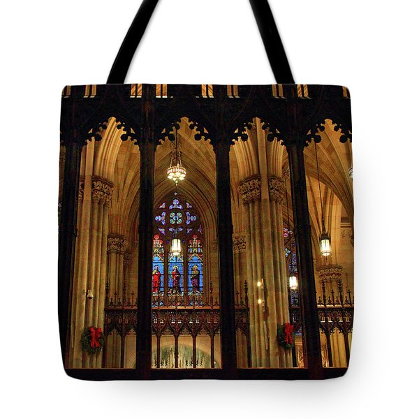 Tote Bag featuring the photograph Cathedral Arches by Jessica Jenney