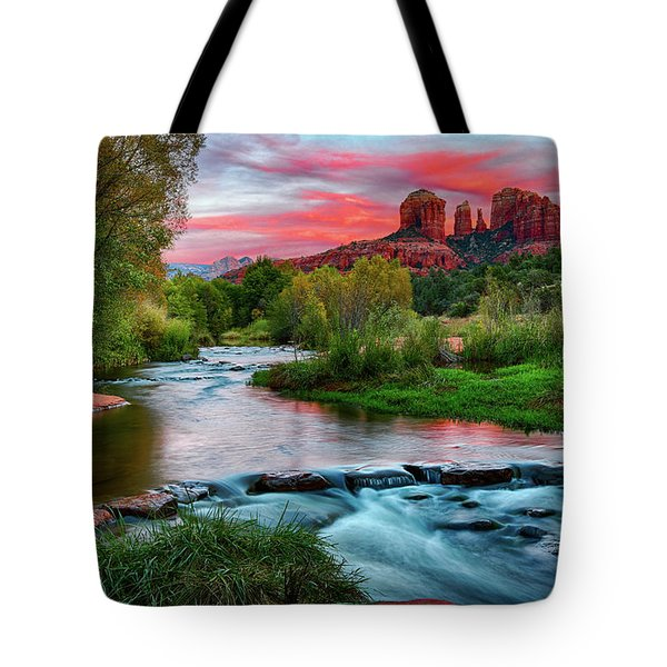 Cathedral At Sunset Tote Bag