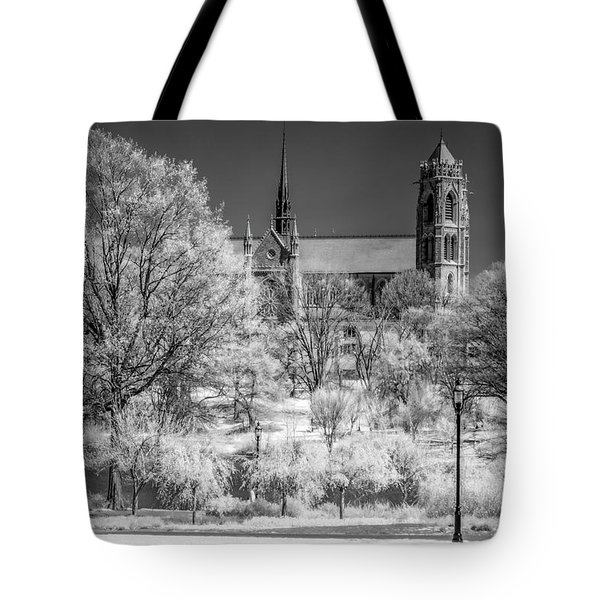 Tote Bag featuring the photograph Cathedral Basilica Of The Sacred Heart Ir by Susan Candelario