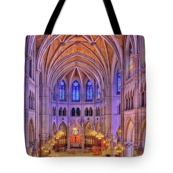 Tote Bag featuring the photograph Cathedral Basilica Of The Sacred Heart Newark Nj II by Susan Candelario
