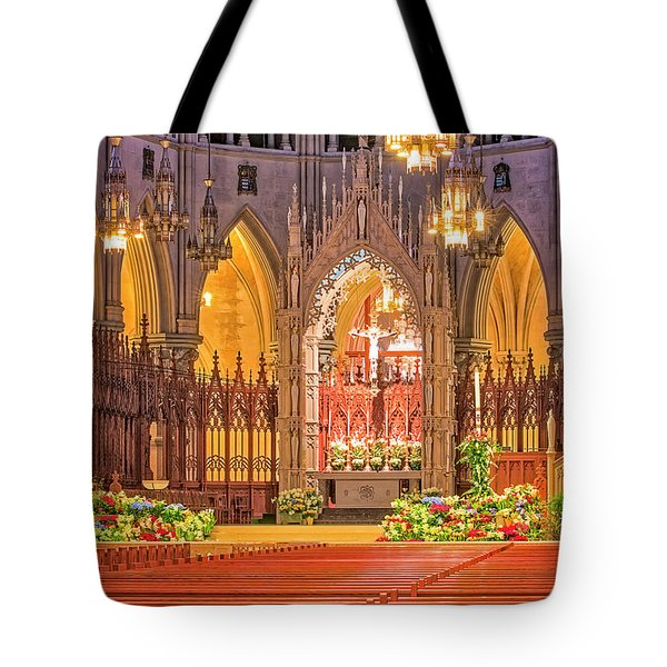 Tote Bag featuring the photograph Cathedral Basilica Of The Sacred Heart Newark Nj by Susan Candelario