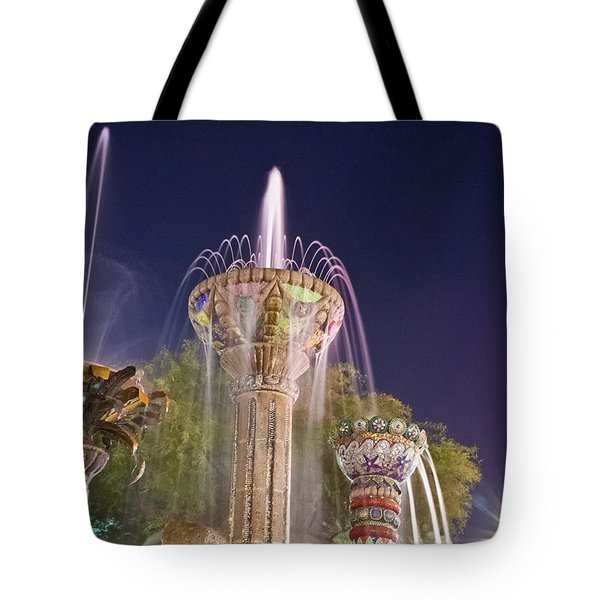 Cathedral City Fountain Tote Bag