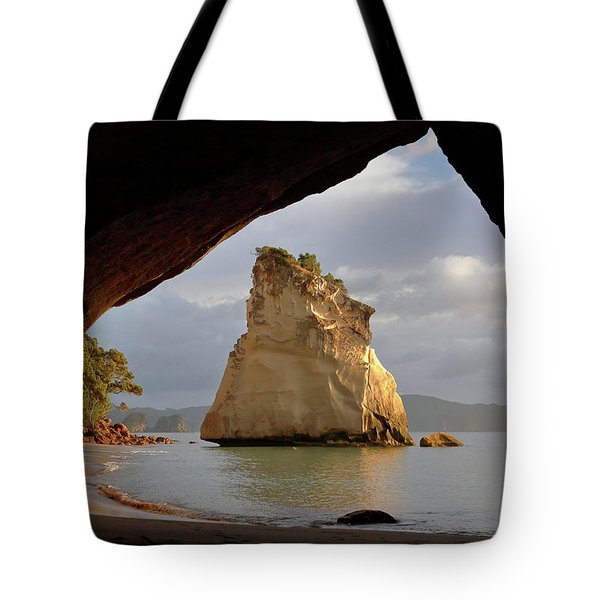 Cathedral Cove Tote Bag
