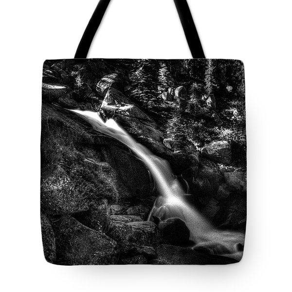 Cathedral Falls From The Tioga Pass Road Tote Bag