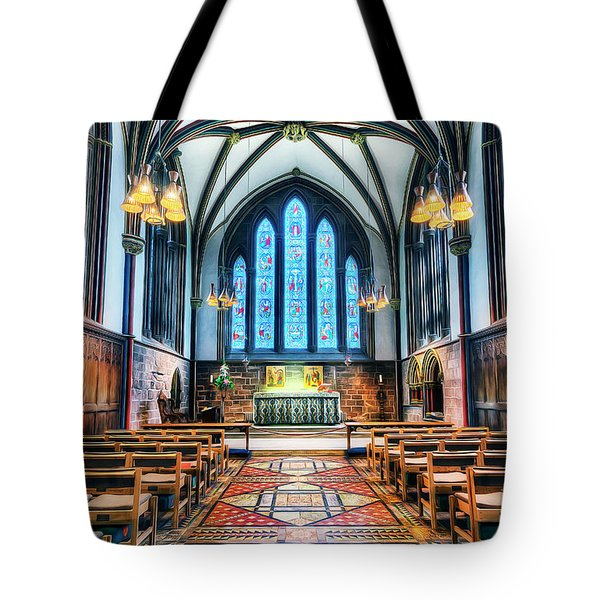 Cathedral Glow Tote Bag