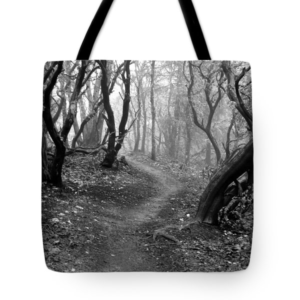 Cathedral Hills Serenity In Black And White Tote Bag