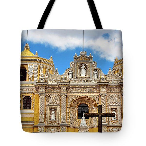 Cathedral In Antigua, Guatemala Tote Bag