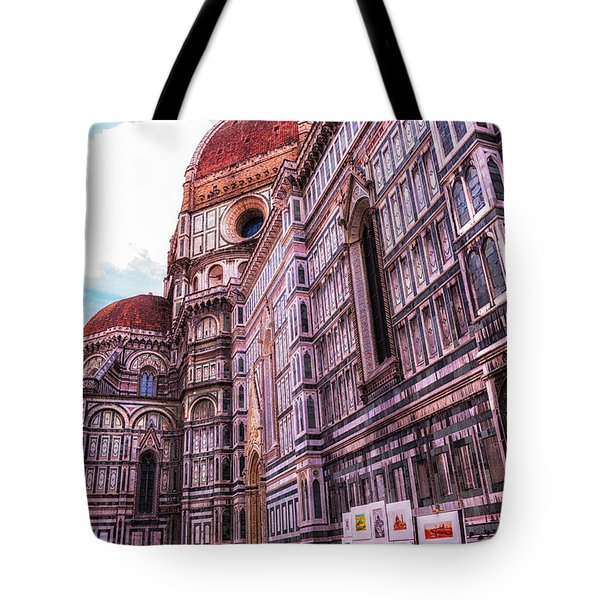 Tote Bag featuring the photograph Cathedral In Rome by Linda Constant