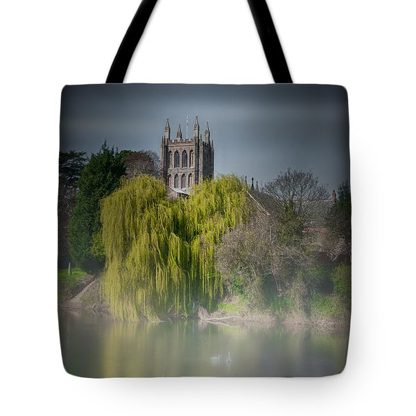 Cathedral In The Mist Tote Bag