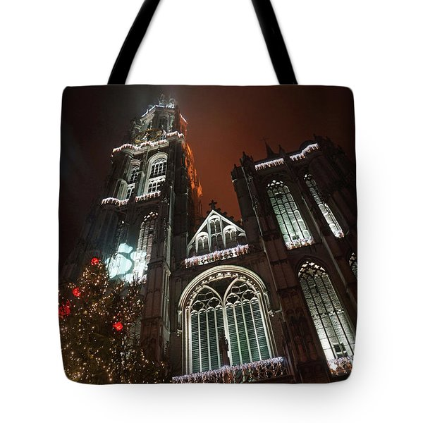Cathedral In The Mist Tote Bag by Erik Tanghe