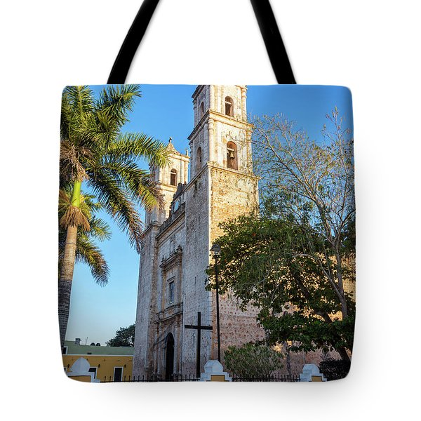 Cathedral In Valladolid Tote Bag