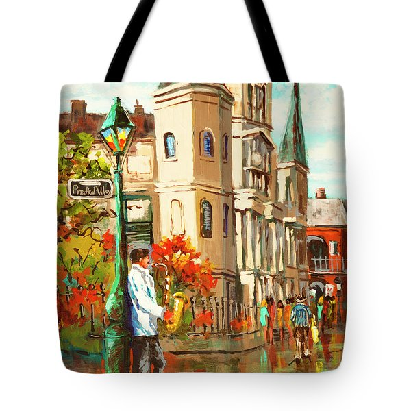 Cathedral Jazz Tote Bag